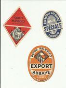Trois étiquettes Brasserie Halbrecq Lobbes - Bière