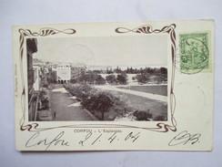 GRECE    -   CORFOU  -  L'ESPLANADE        TTB - Grèce