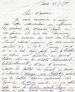 Solange Schwarz Manuscrit Autographe Dedicace Danseuse étoile Danseur Opéra Ballet - Autographes