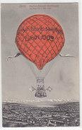 Gordon-Bennett- Wettfliegen Zürich 1909 - Von Kartenrückseite Aus Aufblasbarer Ballon        (P-100-60807) - Montgolfières