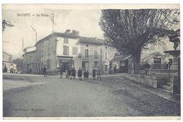Cpa Sauzet - La Place - Autres Communes