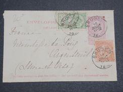 Belgique - Entier Postal + Complément De Bruges Pour La France En 18.. - L 10168 - Covers