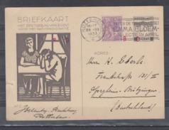 Niederland Ganzsache MiNo. P 227 ZuF  Als Auslandskarte Rotterdam 28.III.1933 Mit Roter Codierung B D / B D - Entiers Postaux