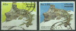 Pakistan - 1984 Snow Leopard Set Of 2 Used  Sc 603-4 - Pakistan