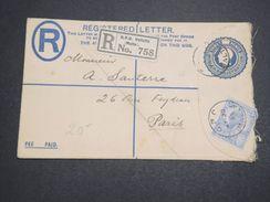 MALTE - Entier Postal + Complément De G.P.O.Valletta Pour Paris En 1925  - L 10173 - Malte