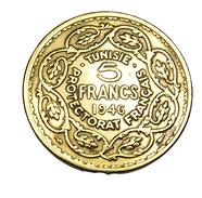 5 Francs - Tunisie - Bronze-Alu - 1946 - TB+ - - Tunisie
