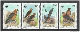 Lesotho 1986 Mi 556-559 MNH WWF BIRDS - W.W.F.