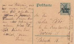 REICH POST-KARTE. 28.12.15. POLEN-ZURICH - Allemagne