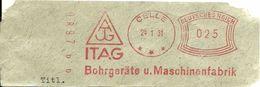 Germany Nice Cut Meter ITAG Bohrgerate Und Maschinefabrik, Celle 24/1/1931 - Fabrieken En Industrieën