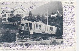 Vevey-Chamby - Wagon De La Ligne En Gros Plan - 1903         (P-100-60807) - VD Vaud