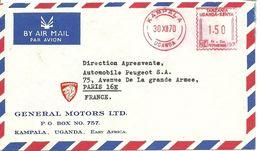 Airmail Cover General Motors Lmt. Kampala Uganda East Afrika, Kampala 30/12/1970 - Auto's