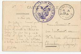 Marcophilie Savoie 73 - Cachet 1er  Régiment D'artillerie De Montagne 46e Batterie Montmellian 1914 - Marcophilie (Lettres)