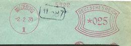 Germany Window Firm Cover Polte Magdenburg 2/2/1931 - Fabrieken En Industrieën