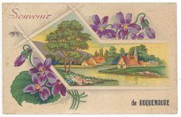 Cpa Souvenir De Roquemaure ( Fantaisie Fleurs ) - Roquemaure
