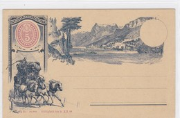 Entier Postal, Diligence Du Gothard /Rütli - Interi Postali