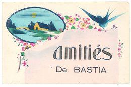 Cpa Corse - Amitié De Bastia ( Fantaisie, Hirondelle ) - Bastia