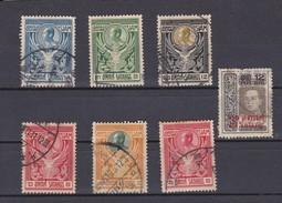 LOTE DE 7 SELLOS USADOS DE SIAM DEL AÑO 1910 - Siam