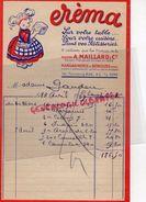 59- BONDUES- BELLE FACTURE CREMA- MAISON A. MAILLARD-MARGARINERIE MARGARINE BEURRE PATISSERIE- 1939 - Alimentaire