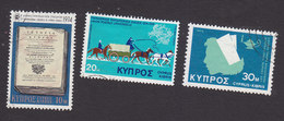 Cyprus, Scott #419, 434, 440, Used, History Of Cyprus, Mail Coach, Nurse, Issued 1974-75 - Oblitérés