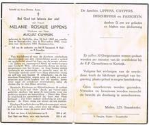 Snaaskerke, Stalhille: 1947, Melanie-Rosalie Lippens (2 Scans) - Devotion Images