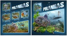 SIERRA LEONE 2017 ** Piranhas M/S+S/S - OFFICIAL ISSUE - DH1746 - Fische