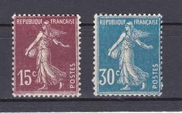 LOTE DE 2 SELLOS NUEVOS DE FRANCIA DE 15 Y 30 CENTAVOS (Nº 189-192) - Nuevos