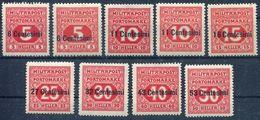 Österreichisch-ungarische Feldpost Ausgabe Für Italien Porto Mi. 1 A+B+2 A+B+3-7 A   */Falz  Siehe Bild - Ungebraucht
