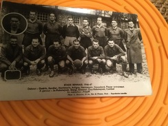 CARTE PHOTO EQUIPE FOOT STADE RENNAIS  1946 1947 - Football