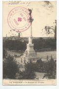 Marcophilie  Bordeaux 33 Cachet  Hopital Auxillaire 27 Croix Rouge Française 51 Rue Levteire 1915 - Guerra Del 1914-18