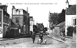 Saint énogat Dinard Ille Vilaine Rue St Lunaire Animation 1920 état Superbe - France