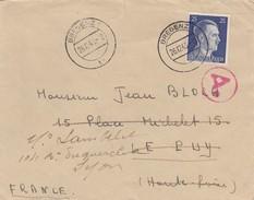 REICH BRIEF. 26.12.43. BREGENZ LEPUY -LYON-  FRANCE.  ZENSUR - Allemagne