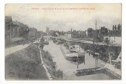 TROYES  (cpa 10)  Perspective Sur Le Canal De La Haute-Seine, Le Port Aux Brêles -  - L 1 - Troyes
