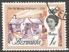 Bermuda. 1962-68 QEII. 1d Used. Upright Block CA W/M SG 163 - Bermuda