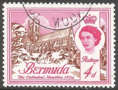 Bermuda. 1962-68 QEII. 4d Used. Upright Block CA W/M SG 166 - Bermuda