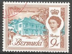 Bermuda. 1962-68 QEII. 9d Used. Upright Block CA W/M SG 170 - Bermuda