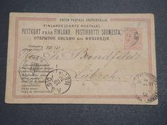 FINLANDE  - Entier Postal De Ekenäs Pour Lübeck En 1910 - L 10203 - Finlandia