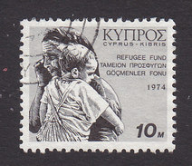 Cyprus, Scott #RA2, Used, Old Woman And Child, Issued 1974 - Cyprus (Republiek)
