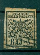 Etats Pontificaux 1852/64 - Y & T. N. 6 - Armoiries 5 Baj. (xix) - Etats Pontificaux