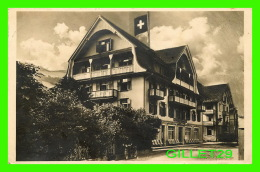 LUNGERN SUISSE,  OW -  HOTEL LOWEN - ANIMATED MOTO -  TRAVEL  IN 1927 - - OW Obwald