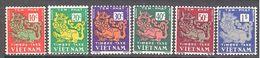 Viet Nam: Yvert Taxe N° 1/6**; MNH - Vietnam
