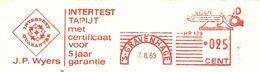 NL Front Firmcover Meter Intertest Tapijt Met Certificaat J.P. Wijers, Den Haag 7/3/1969  Textile - Textiel