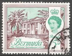 Bermuda. 1962-68 QEII. 5/- Used. Upright Block CA W/M SG 177 - Bermuda