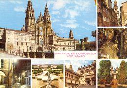 Espagne - Galicia - Santiago De Compostela - Multivues - Carte Toilée - Ed. Arribas - Nº 2069 - 3152 - Santiago De Compostela