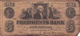 BILLETE DE ESTADOS UNIDOS DE WASHINGTON DE 5 DOLLARS DEL AÑO 1852  (BANKNOTE) COPY - Washington