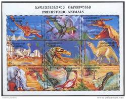Georgia 1998 Prehistoric Animals Fauna Faune Dinosaurus Dinosaures Reptiles Animaux Dinosaurs Mi 280-288 MNH ** - Prehistorics