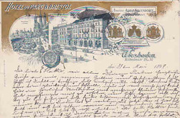 Hotel Du Parc & Bristol - Litho - 1899        ( A-59-100311) - Wiesbaden
