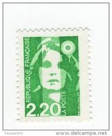 Briat 2fr20 Vert Clair YT 2790b Sans Phosphore . Rare , Voir Le Scan . Cote YT : 20 € , Maury N° 2788b : 25 € - Variétés Et Curiosités