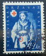 RED CROSS-4+2 K-NATIONAL COSTUMES-BOSNIA-ERROR-THIN LINE-NDH-CROATIA-1942 - Red Cross