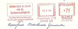 NL Firmcover SVOV Meter Wetenschap In Dienst Van De Verkeersveiligheid, Leidschendam 16/2/1968 Traffic Safety - Transportmiddelen