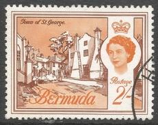 Bermuda. 1966-69 QEII. 2/- Used. Sideways Block CA W/M SG 200 - Bermuda